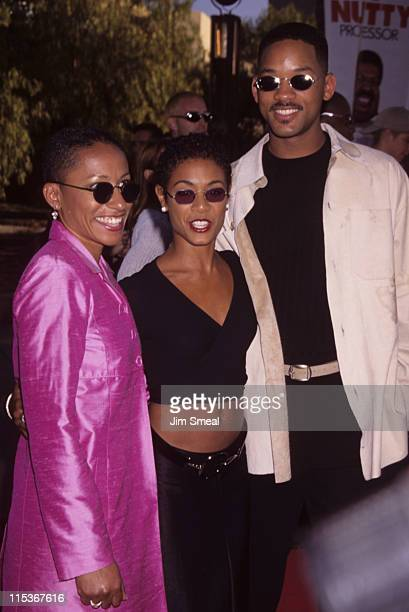 Adrienne Pinkett Jada Pinkett and Will Smith during 'The Nutty Professor' Los Angeles Benefit Premiere at Universal Studios Amphiteatre in Universal...