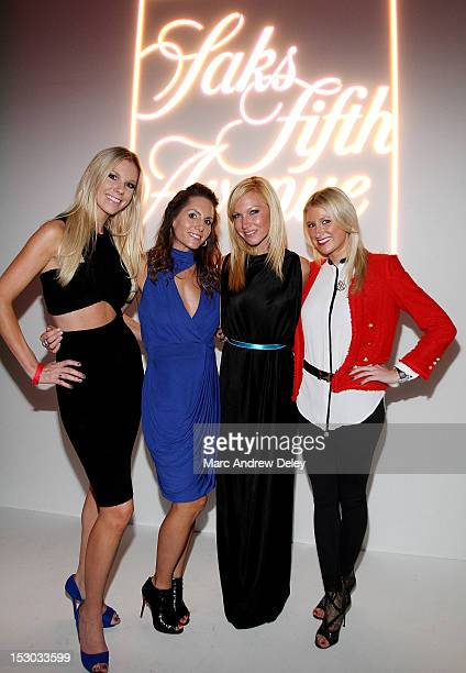 Adrienne Reynolds Tiffany Ortiz Ashley Bernon and Lindsey Ratner pose as Boston Common Magazine Celebrates Boston Fashion Week Lights CameraFashion...