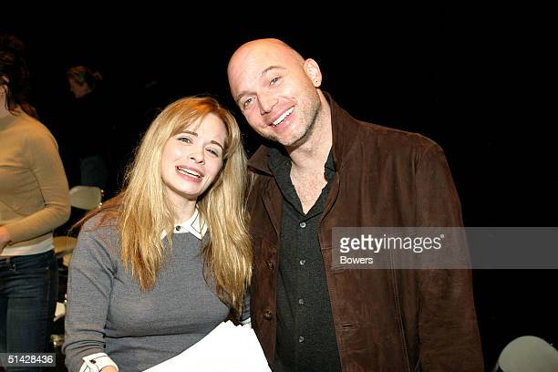 Adrienne Shelly and Michael Cerveris pose for a picture after a reading of 'Waitress' presented by the Womens Expressive Theater company at the 13th...