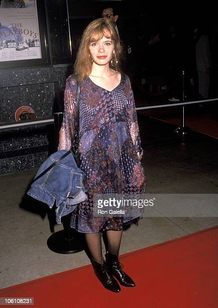 Adrienne Shelly during Santa Monica Premiere of 'The Playboys' April 28 1992 at Mann Criterion Theater in Santa Monica California United States