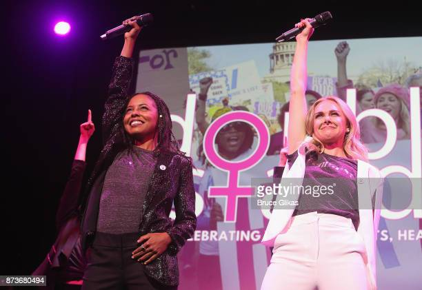 Adrienne Warren and Laura Bell Bundy perform in 'Double Standards' a concert benefitting womans rights heath and empowerment funding the ACLU...