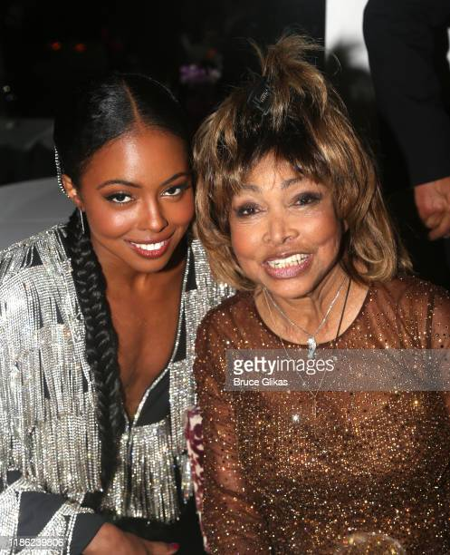 Adrienne Warren and Tina Turner attend the opening night of Tina The Tina Turner Musical at LuntFontanne Theatre on November 07 2019 in New York City