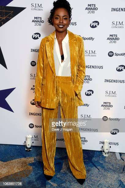 Adrienne Warren attends the Music Industry Trust Awards 2018 at Grosvenor House on November 05 2018 in London England