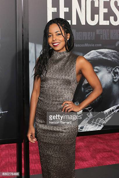 Adrienne Warren attends the New York Special Screening of the Paramount Pictures title FENCES at Rose Theater Jazz at Lincoln Center on December 19...