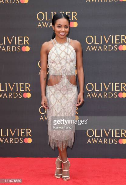 Adrienne Warren attends The Olivier Awards 2019 with MasterCard at Royal Albert Hall on April 07 2019 in London England