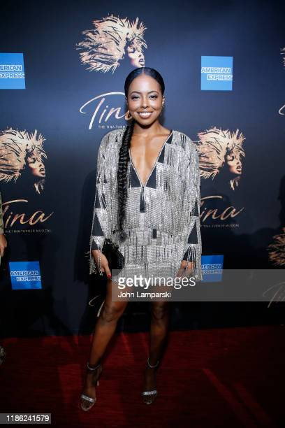 Adrienne Warren attends Tina The Tina Turner Musical opening night at LuntFontanne Theatre on November 07 2019 in New York City