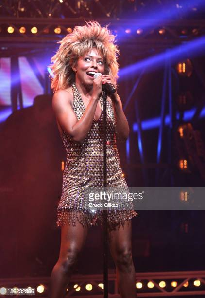 Adrienne Warren performs onstage during the opening night of Tina The Tina Turner Musical at LuntFontanne Theatre on November 07 2019 in New York City