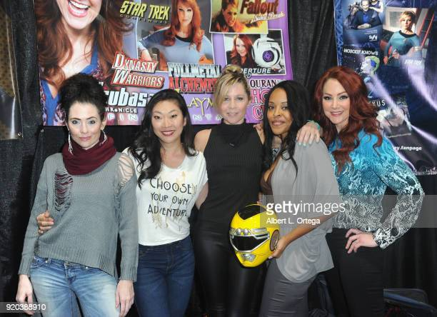 Adrienne Wilkinson Jackie Dallas Gigi Edgley Nakia Burrise and Michele Louise Specht attend day 2 of the 8th Annual Long Beach Comic Expo held at...