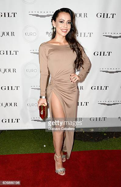 Adrienne Williams attends the DuJour Media Gilt JetSmarter party to kick off Art Basel at The Confidante on November 30 2016 in Miami Beach Florida