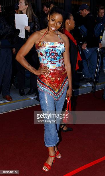 AdrienneJoi Johnson during The Los Angeles Premiere of 'Jim Brown All American' at Writers Guild of America Theater in Beverly Hills California...