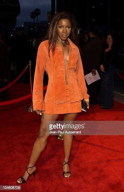 AdrienneJoi Johnson during 'What's On the Hearts of Men' Play Opening Arrivals at Wilshire Theatre in Beverly Hills California United States