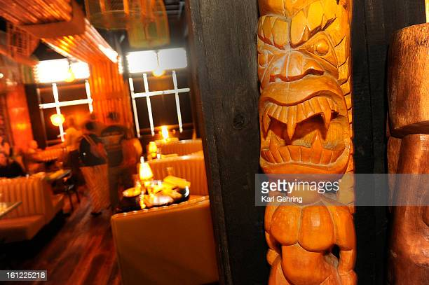 Adrift tiki bar is located at 218 S Broadway in Denver Patrons enjoyed a taste of the Pacific Friday night April 2012 The bar features 40 rum...