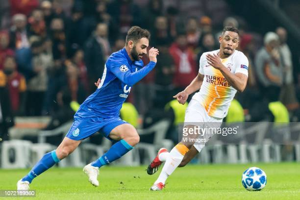 Adrián López Álvarez of FC Porto Fernando Francisco Reges of Galatasaray SK during the UEFA Champions League group D match between Galatasaray AS and...