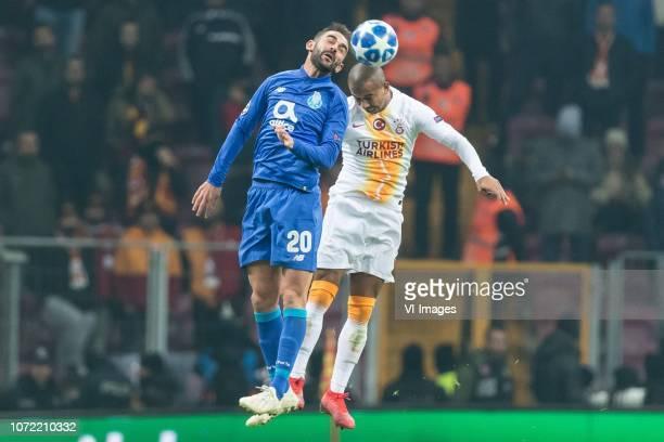Adrián López Álvarez of FC Porto Mariano Ferreira Filho of Galatasaray SK during the UEFA Champions League group D match between Galatasaray AS and...