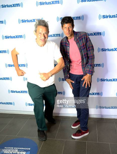AdRock and Mike D of Beastie Boys visit at SiriusXM Studios on September 13 2018 in New York City