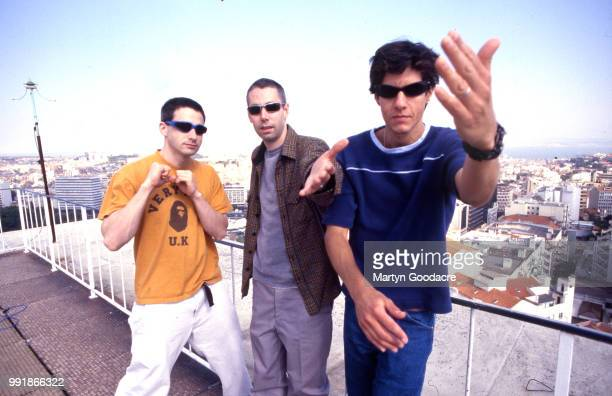 Ad-Rock , MCA and Mike D of the Beastie Boys, group portrait, Portugal 1998.
