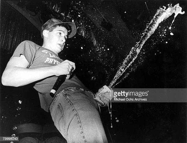 AdRock of the hip hop group the Beastie Boys performs live at the Hollywood Palladium Hollywood California 7th February 1987