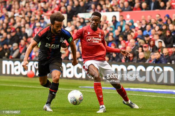 Adros Towsend of Crystal Palace battles with Alfa Semedo of Nottingham Forest during the Preseason Friendly match between Nottingham Forest and...