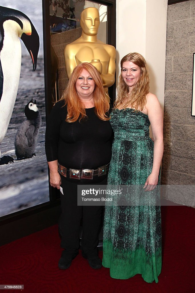 Adruitha Lee (L) and Robin Mathews attend the 86th Annual Academy Awards - Makeup And Hairstyling at the AMPAS Samuel Goldwyn Theater on March 1, 2014 in Beverly Hills, California.