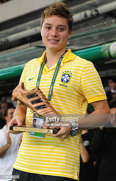 Adryan of Brazil wins the FIFA Bronze Boot Award during the FIFA U-17 World Cup Mexico 2011 Final match between Uruguay and Mexico at the Azteca...