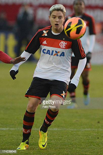 Adryan of Flamengo runs for the ball during the match between Flamengo and Internacional for the Brazilian Serie A 2013 on July 21 2013 in Centenario...