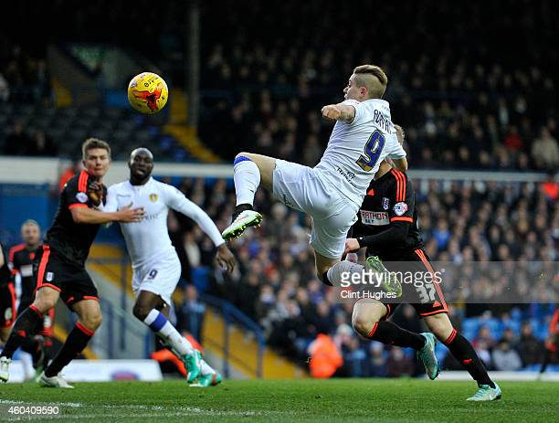 Adryan of Leeds United attempts a shot on goal during the Sky Bet Championship match between Leeds United and Fulham at Elland Road on December 13,...