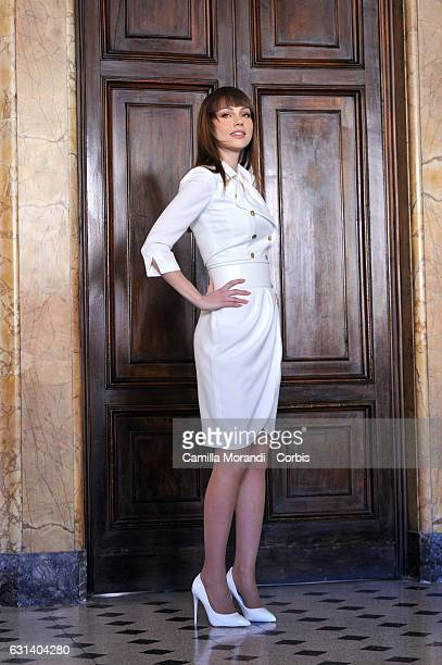 Adua Del Vesco attends a photocall for 'Il Bello Delle Donne' tv series on January 10 2017 in Milan Italy