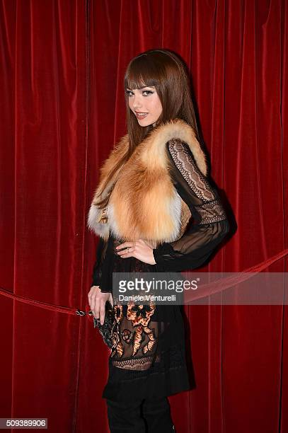 Adua Del Vesco attends second night of the 66th Festival di Sanremo 2016 at Teatro Ariston on February 10 2016 in Sanremo Italy
