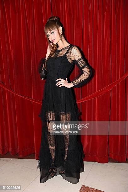 Adua Del Vesco attends the closing night of 66th Festival di Sanremo 2016 at Teatro Ariston on February 13 2016 in Sanremo Italy