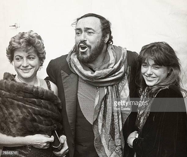 Adua Veroni, Luciano Pavarotti and their daughter