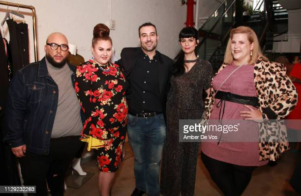 Adui Delvalle Candice Christian Christopher Salute Carmina Suzanne and Anna O'u2019Brien attend Slink Magazine x 11Honoré NYFW Event at 111 8th Ave...