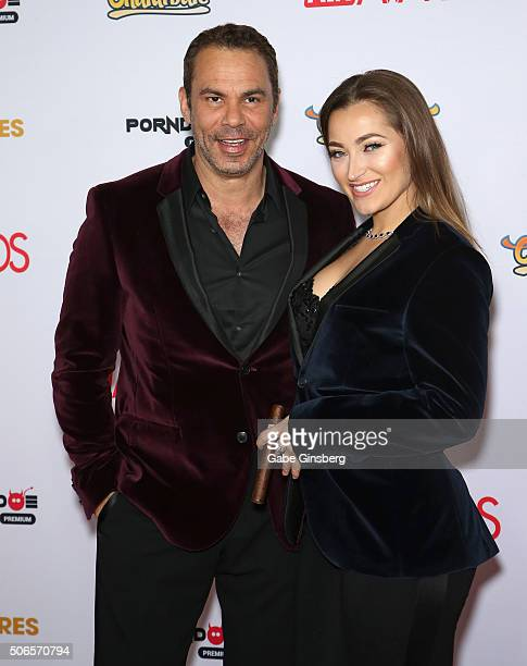 Adult actor/director Steven St. Croix and adult film actress Dani Daniels attend the 2016 Adult Video News Awards at the Hard Rock Hotel & Casino on...