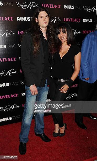 Adult actors Damien Rainaud and Annie Cruz arrive at the 'Lovelace' Los Angeles Premiere at the Egyptian Theatre on August 5 2013 in Hollywood...