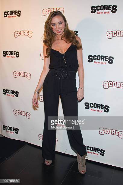 Adult actress Capri Anderson attends a party at Scores on March 3, 2011 in New York City.