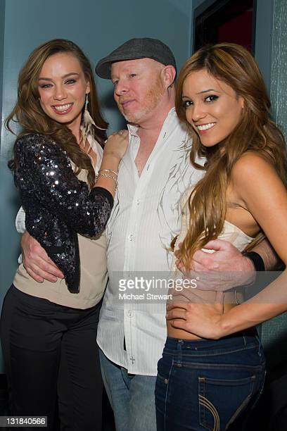 Adult actress Capri Anderson Steppin' Out host Chaunce Hayden and adult actress Melanie Rios visit Steppin' Out with the Tabloids at Sapphire's...