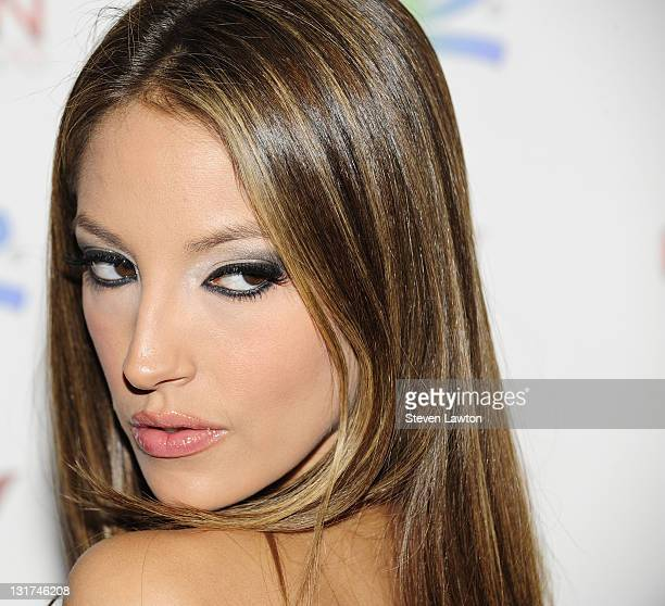 Adult actress Jenna Haze arrives to host an evening at Crown Nightclub on July 2 2010 in Las Vegas Nevada