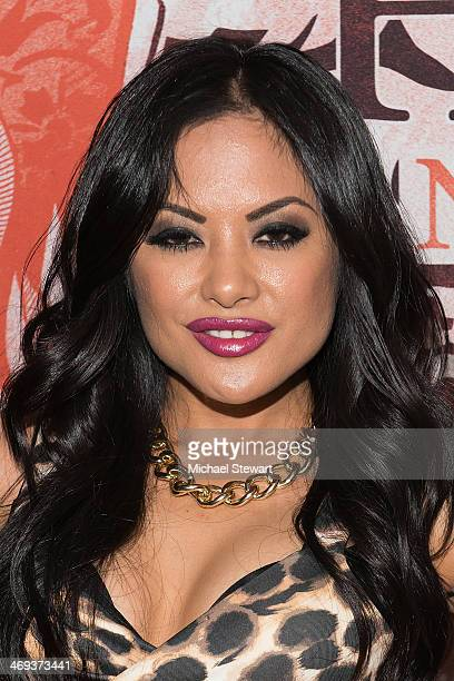 Adult Actress Kaylani Lei attends Big John's Birthday Celebration at Headquarters on February 13, 2014 in New York City.
