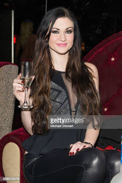 Adult Actress Kendall Karson attends Big John's Birthday Celebration at Headquarters on February 13 2014 in New York City