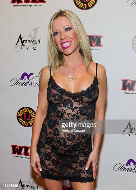 Adult actress Mandy Monroe attends An Adult Industry Red Carpet Media Affair at Amnesia NYC on November 5 2011 in New York City