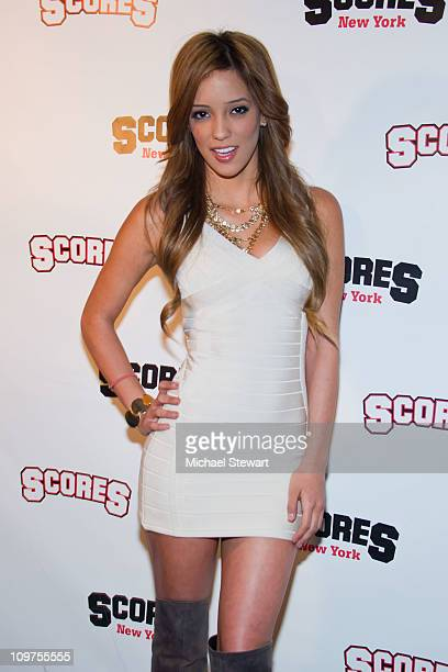 Adult actress Melanie Rios attends a party at Scores on March 3, 2011 in New York City.