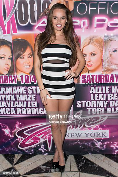 Adult actress Tori Black attends the SINS eXXXotica After Party at Sapphire New York on October 6 2013 in New York City