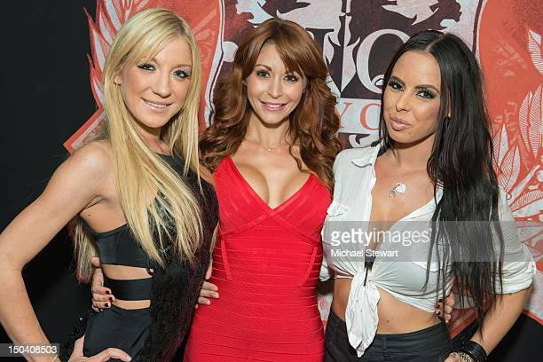 Adult actresses Amy Brooke Monique Alexander and Brandy Aniston visit Headquarters on August 16 2012 in New York City