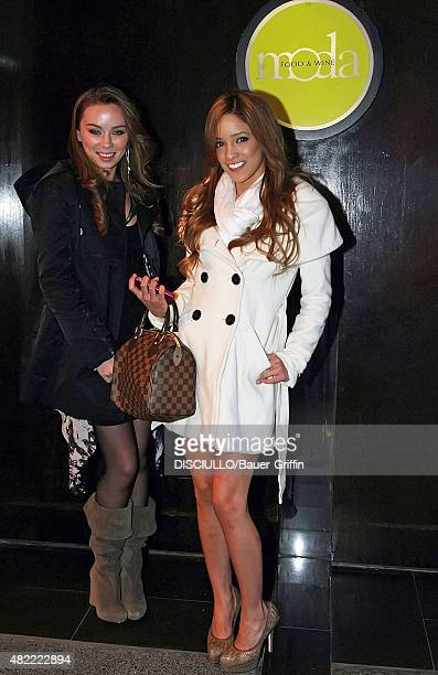 Adult actresses Capri Anderson and Melanie Rios are seen leaving the Moda restaurant on March 03 2011 in New York City