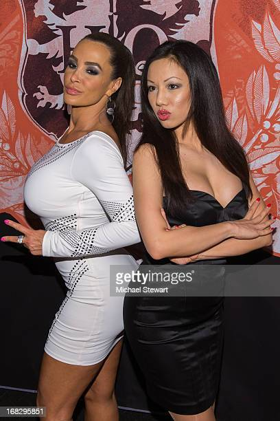 Adult actresses Lisa Ann and Jade Vixen attend Lisa Ann's Birthday Celebration at Headquarters on May 7 2013 in New York City