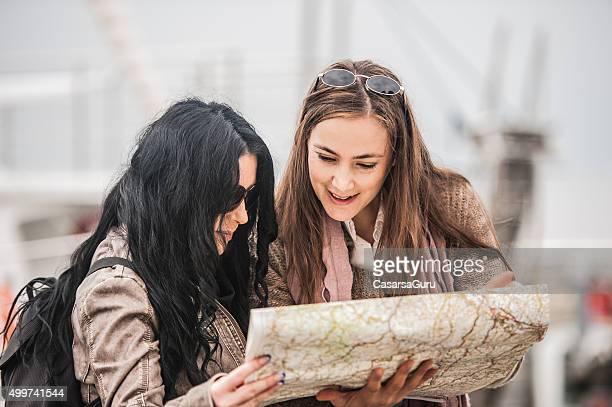 Adult Caucasian Women Exploring the City