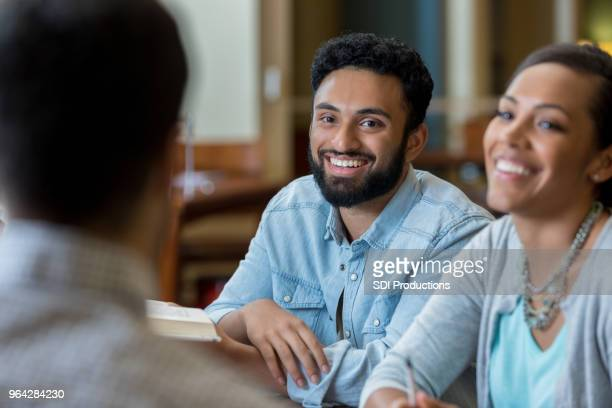 adult college students study for exam - indian couples stock pictures, royalty-free photos & images