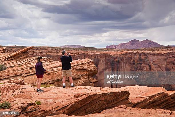 Adult Couple Enjoying the View of Glen Canyon