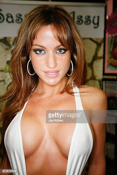 Adult entertainer Angela Sommers attends 2008 Exxxotica New York at the New Jersey Convention and Exposition Center on September 13 2008 in Edison...