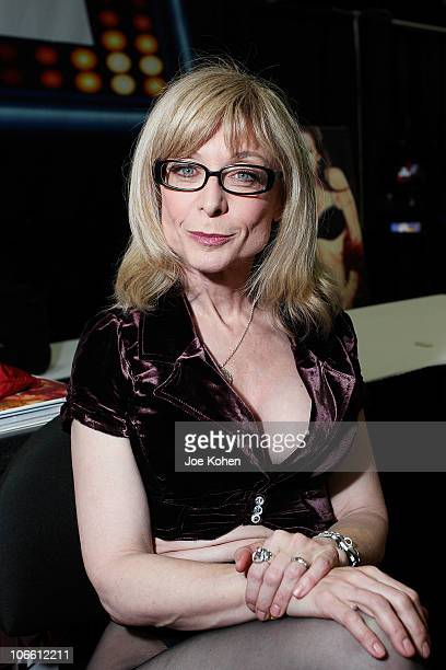 Adult entertainer Nina Hartley attends Exxxotica Expo 2010 at the New Jersey Convention and Exposition Center on November 6 2010 in Edison New Jersey