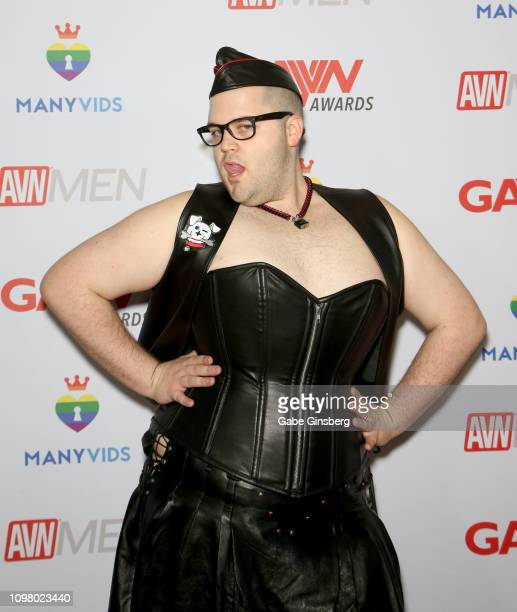 Adult film actor Adam Monda attends the 2019 GayVN Awards show at The Joint inside the Hard Rock Hotel Casino on January 21 2019 in Las Vegas Nevada